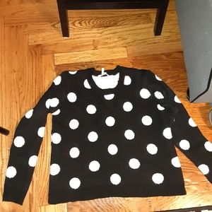 BCBG polkadot sweater medium !